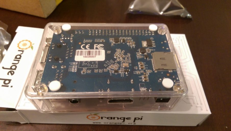 Orange Pi PC In Case (Bottom)