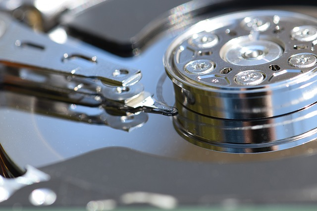 Hard Drive Internals (Stock Image)